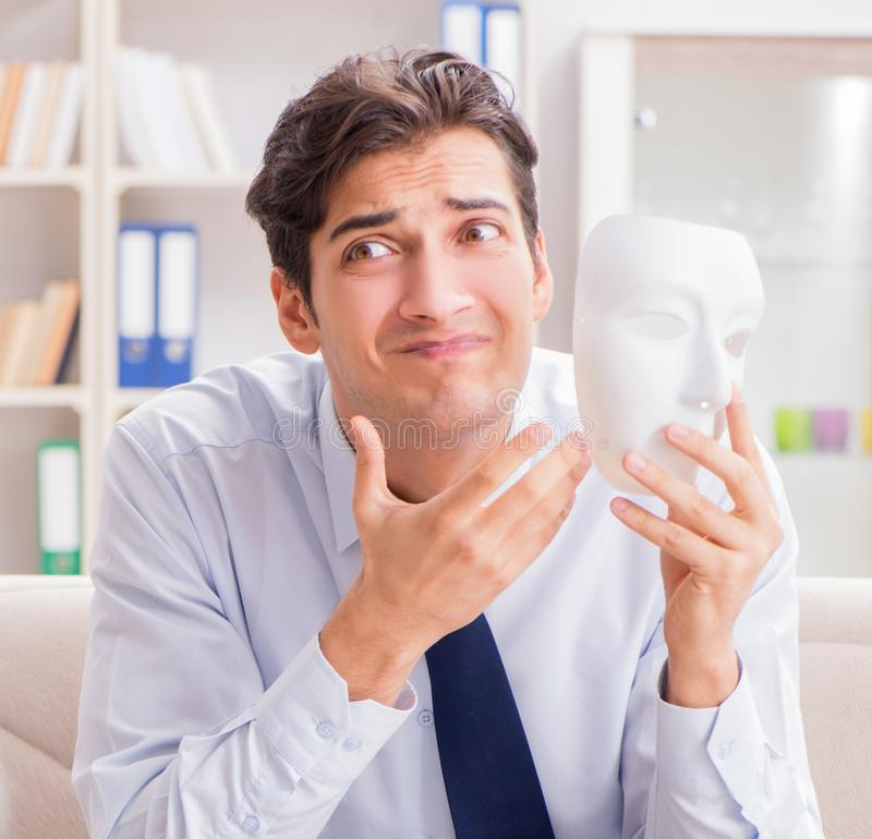 Young man visiting psychiatrist doctor for consultation. The young men visiting psychiatrist doctor for consultation royalty free stock photo