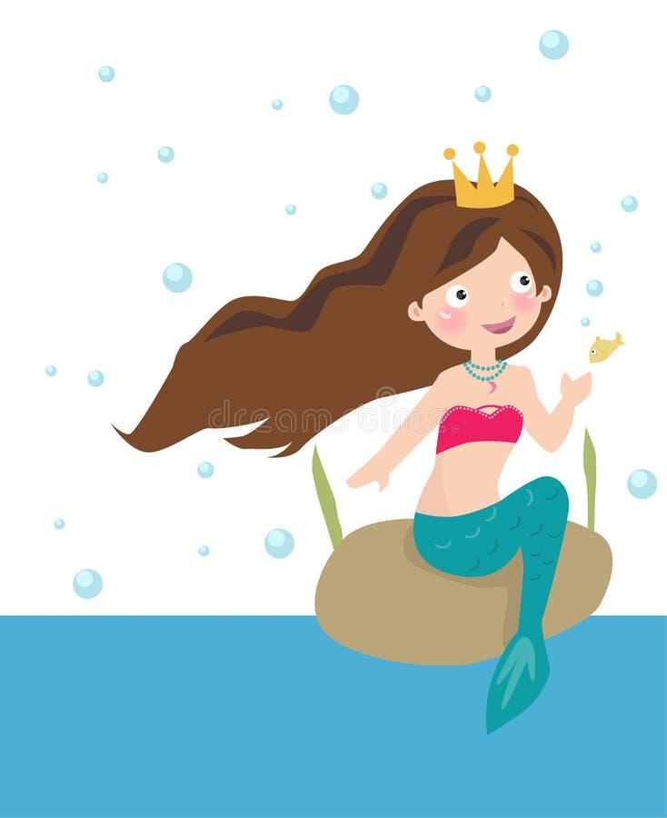 Young Mermaid royalty free illustration