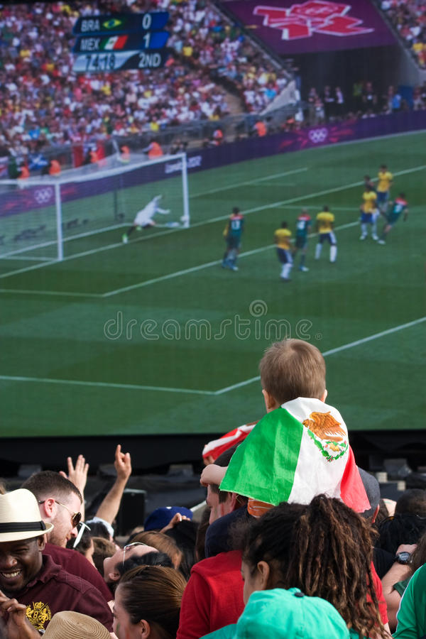 Young Mexican Fan watching the Olympic Final