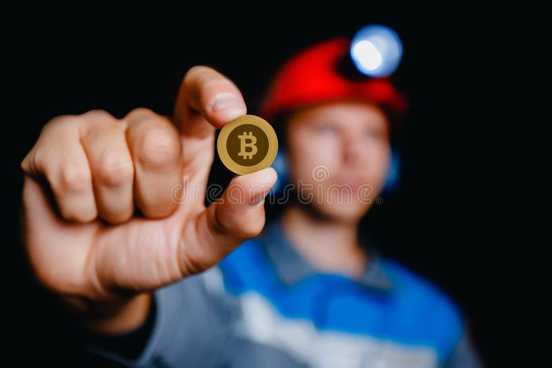 Young miner man stock images