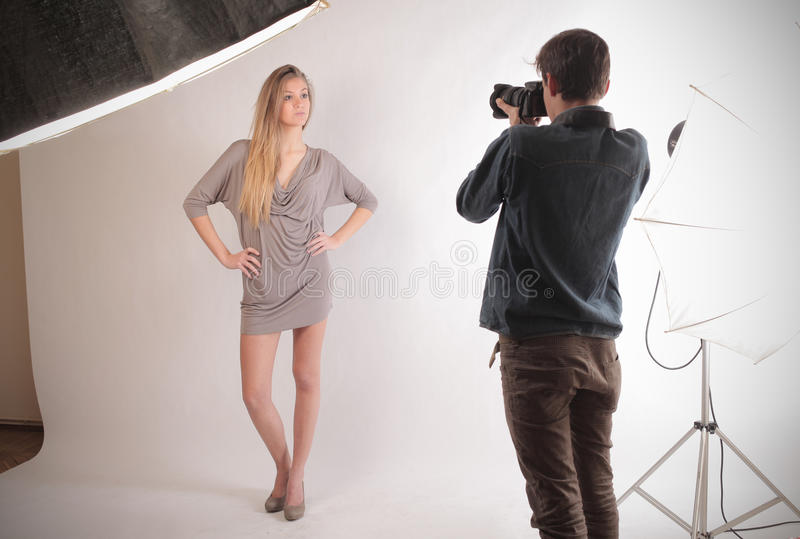 Download Young Model stock image. Image of photographer, blonde - 28622773