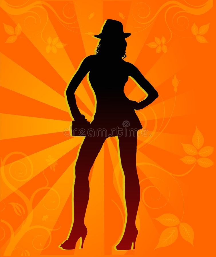 Young Model. Young Female model posing in front of camera royalty free illustration