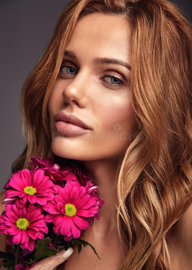 Download Young Model With Natural Makeup And Perfect Skin Stock Image - Image of magnificent, elegance: 117926797