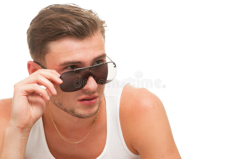 Download Young model in sunglasses stock photo. Image of beard - 20611214