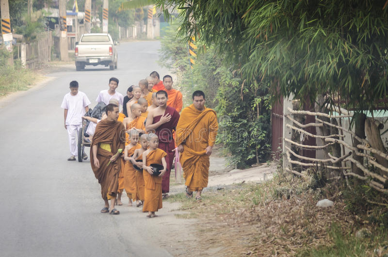 Young Monks stock images