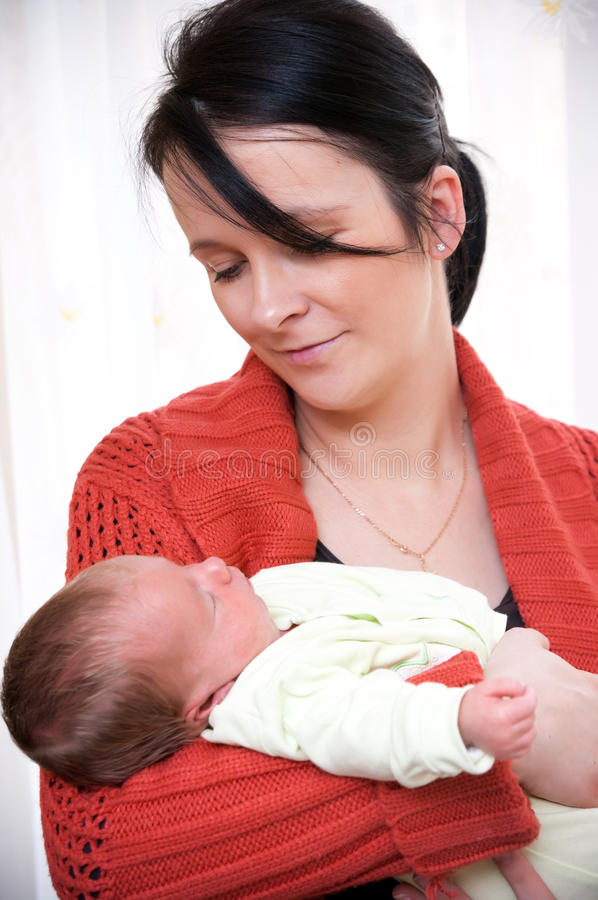 Young mother with baby girl royalty free stock photos