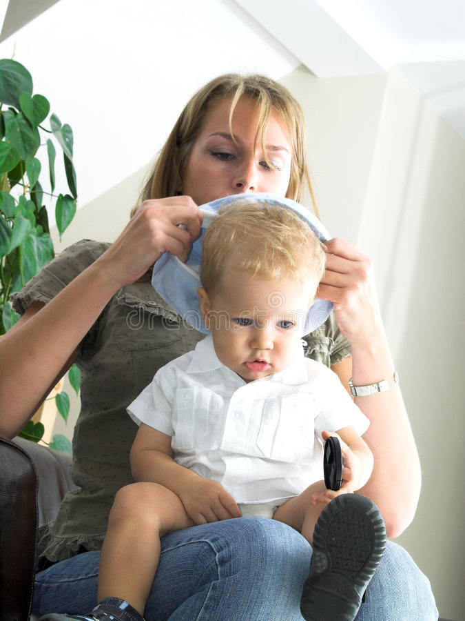 Download Young mother and boy stock photo. Image of baby, isolated - 1248924