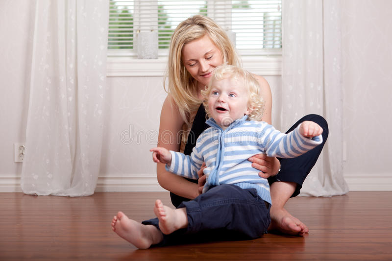 Young Mother with Boy royalty free stock images