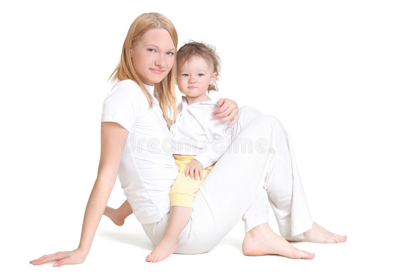 Young mother and her baby stock photography