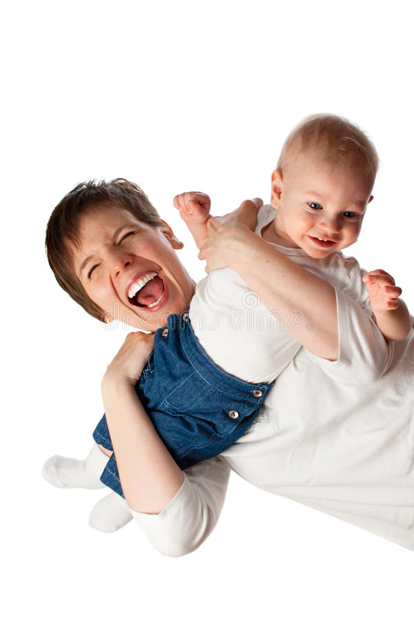 Young mother with her child stock image