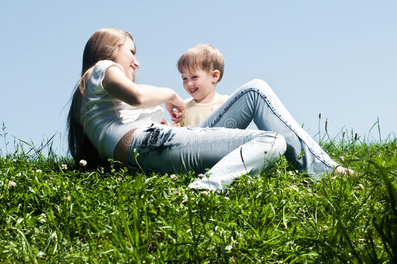 Download Young Mother With Her Little Son Stock Image - Image: 25457119