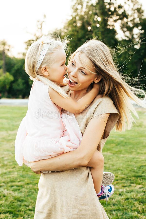 Mother and  her happy daughter royalty free stock photos