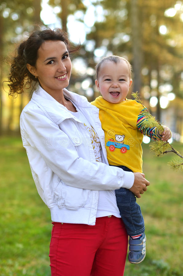 Young Mother With Little Boy Stock Photography