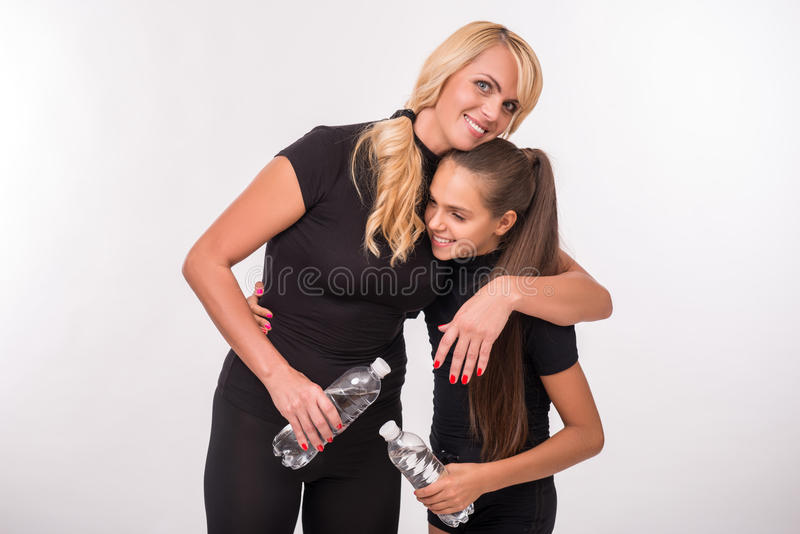 Young mother and teenager daughter royalty free stock photography