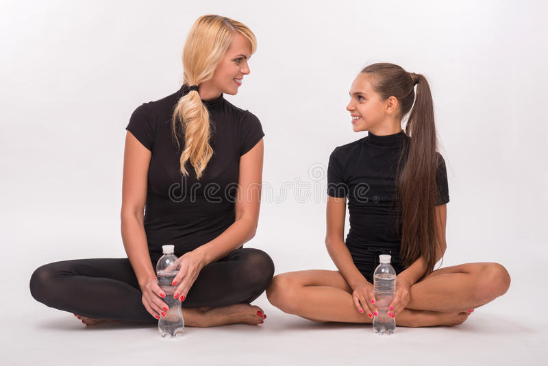 Young mother and teenager daughter stock image