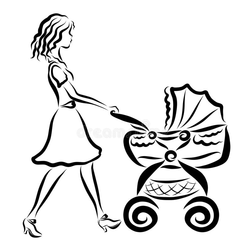 🎨 Little Girl With Doll Carriage - Kizi Free 2020 Printable ... | 800x800
