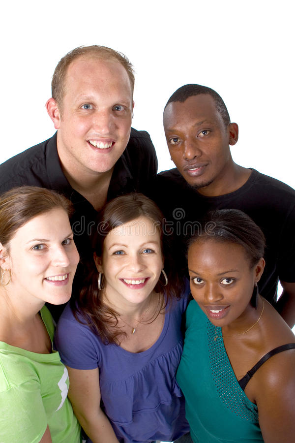 Young multiracial group stock image