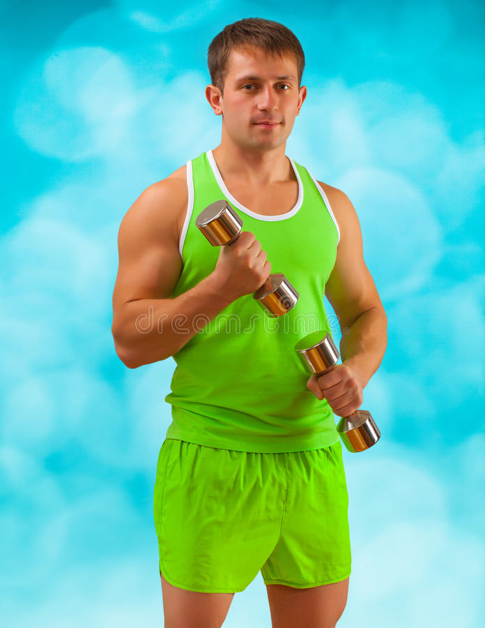 Download A Young Muscular Male Training Stock Photo - Image: 27810784