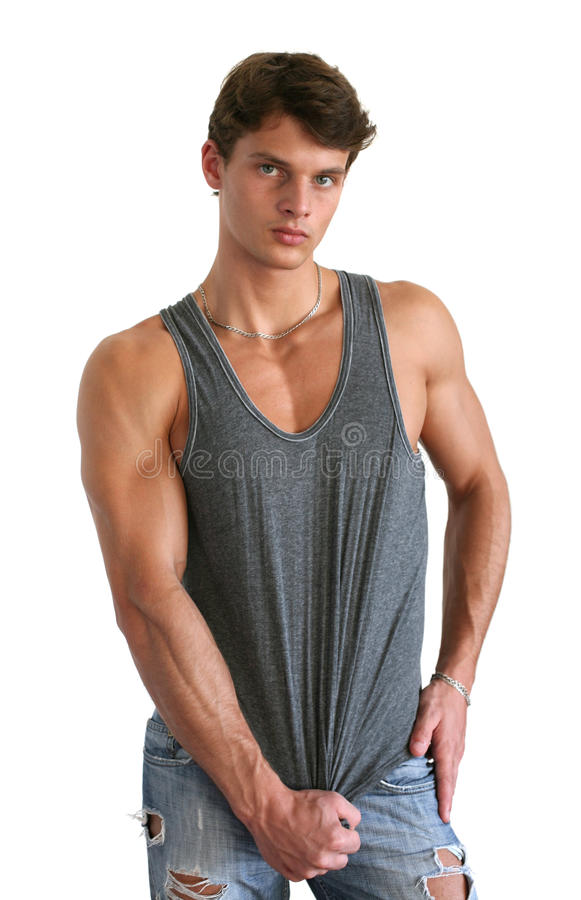 Young Muscular Man royalty free stock image