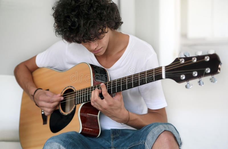 Download Young musician stock image. Image of white, acoustic - 16909593