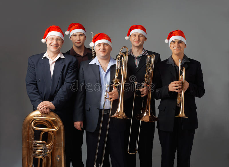 Young Musicians With A Wind Instruments Stock Images