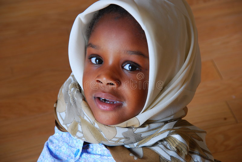 Download Young Muslim Girl stock photo. Image of african, young - 5870506