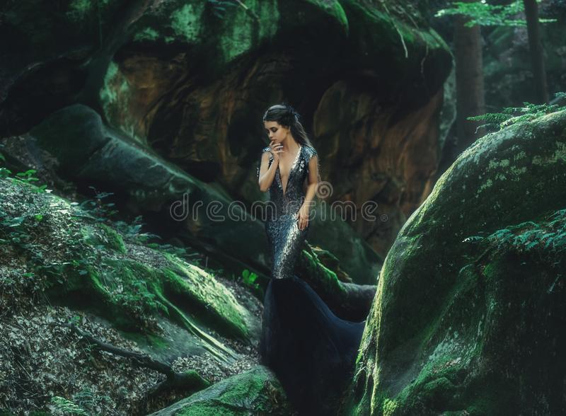 A young mysterious girl royalty free stock photo