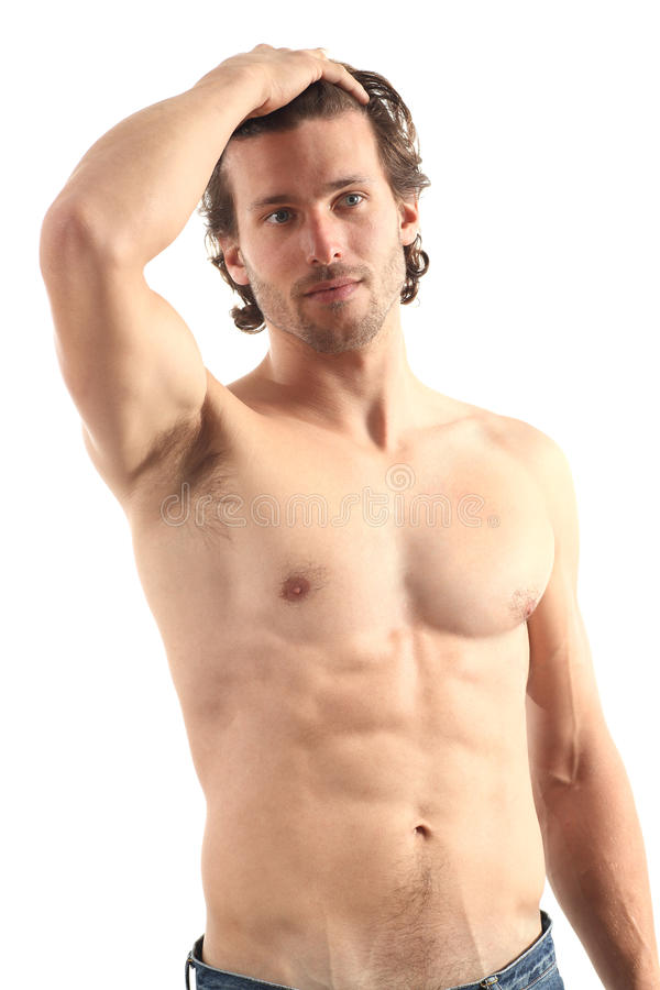Young naked man stock images