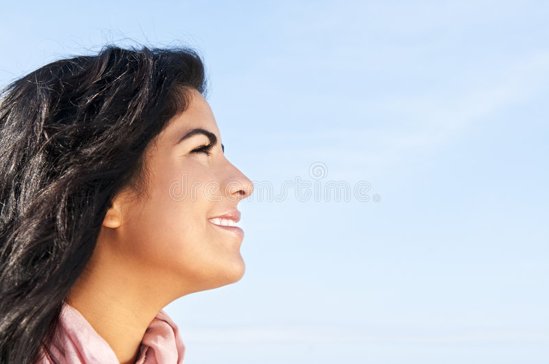 Young native american woman royalty free stock photo