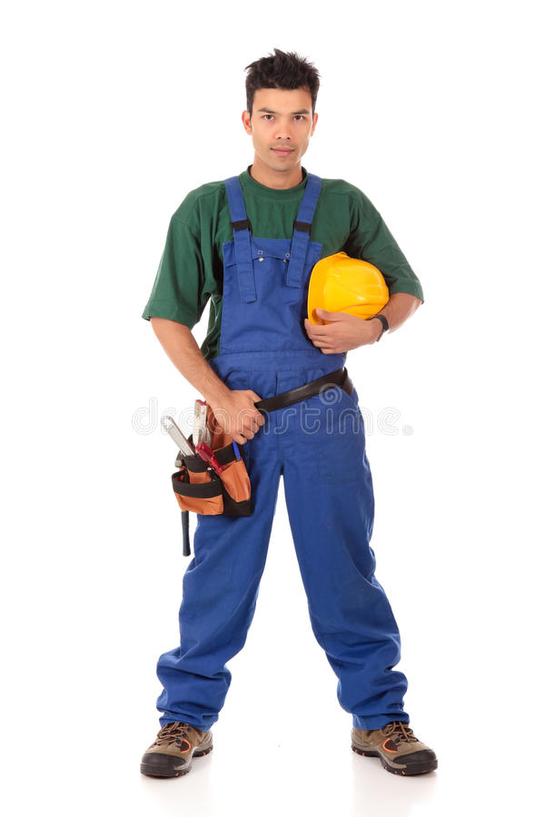 Young Nepalese attractive carpenter portrait stock photos