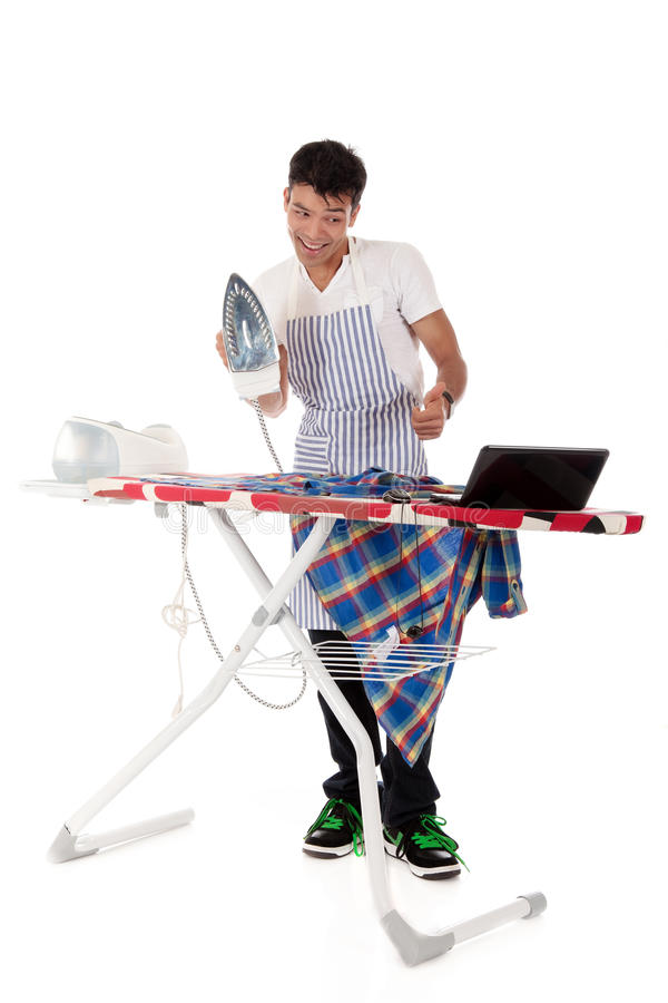 Download Young Nepalese Man, On-line Ironing Lessons Stock Photo - Image: 16866230