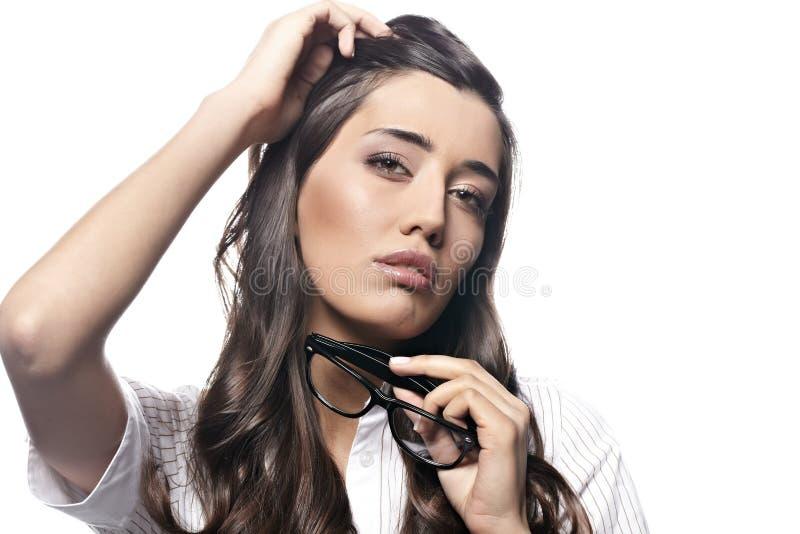 Young Nervous Business  Woman Stock Photos