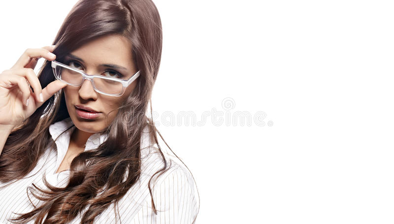 Download Young Nervous Business  Woman Stock Photo - Image: 18849994