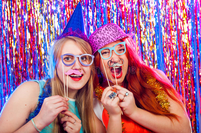 Download Young nice girls have fun stock photo. Image of girl - 63376454