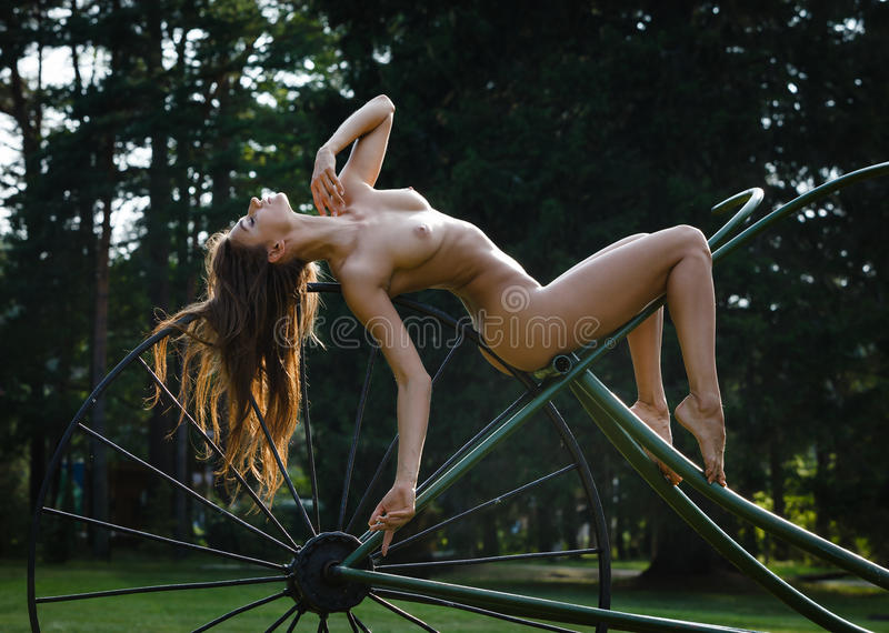 Nude girl nature relax