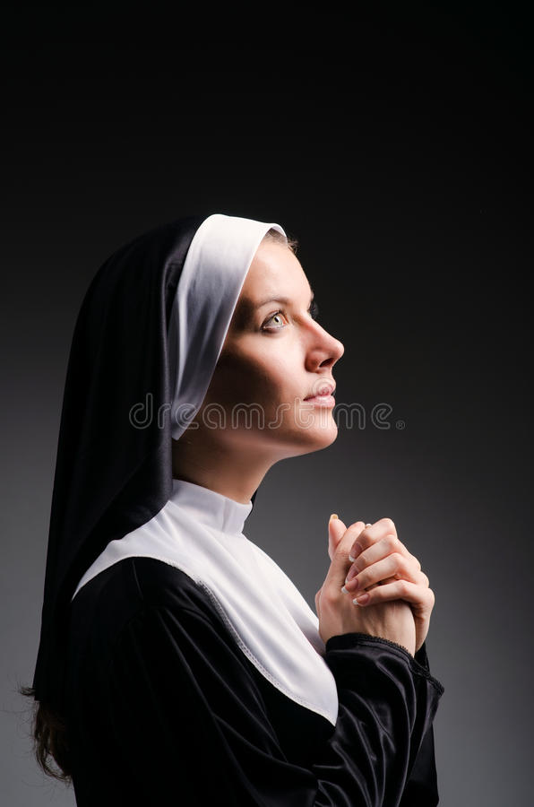 Download Young nun stock photo. Image of devotion, pose, attractive - 28784468