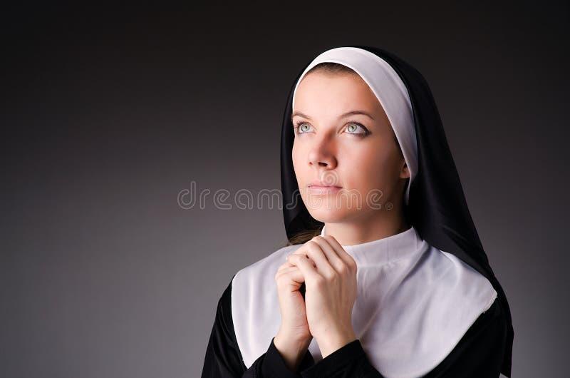 Young nun stock photography