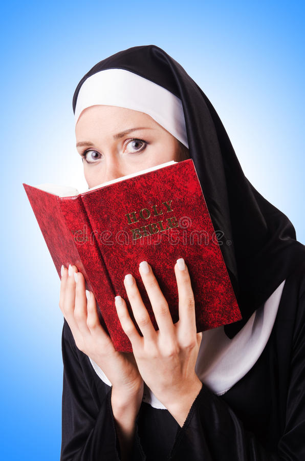 Young nun in religious royalty free stock photography