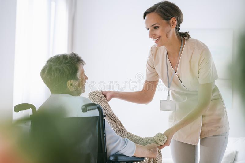 Nurse in a nursing home stock photography