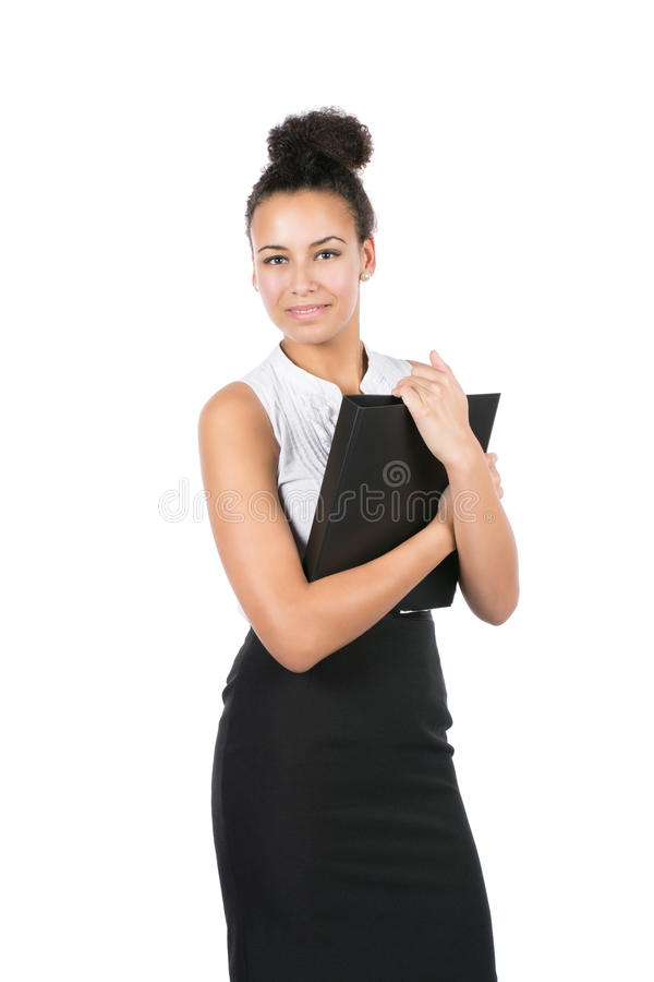 Young Office Worker Holds A File Royalty Free Stock Photography