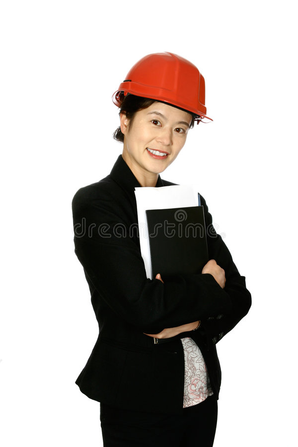 Young oriental architect royalty free stock image