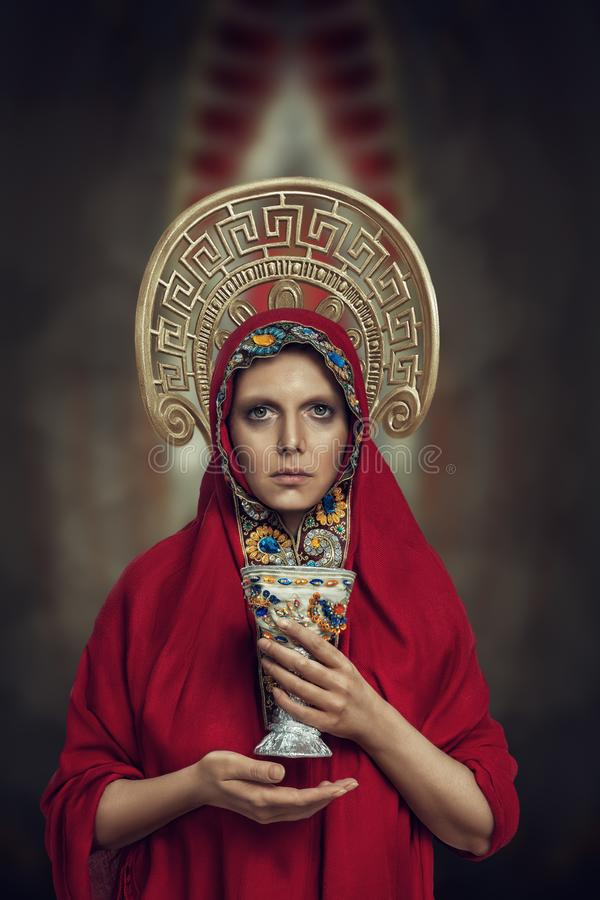 Young orthodox prayer portrait stock photos