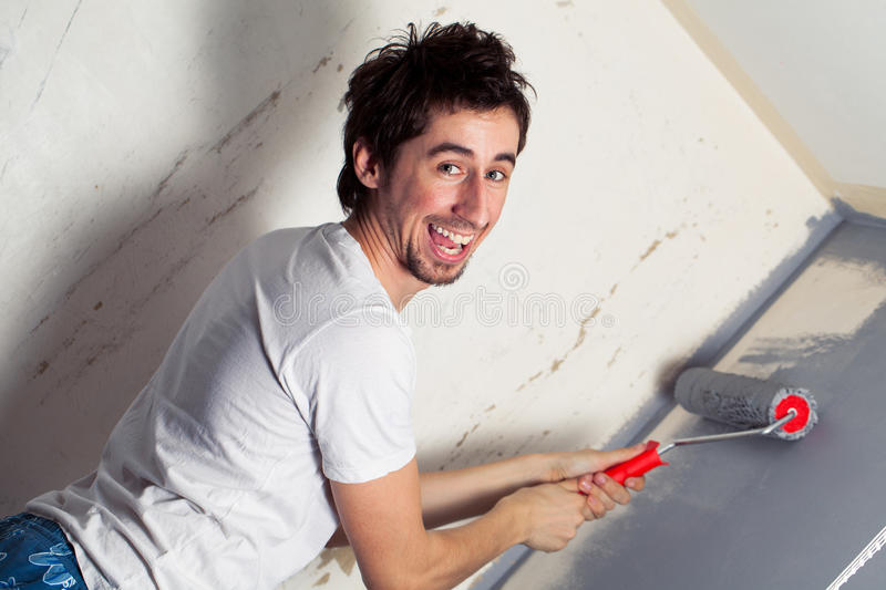 Download Young painter stock photo. Image of manual, construction - 17688028
