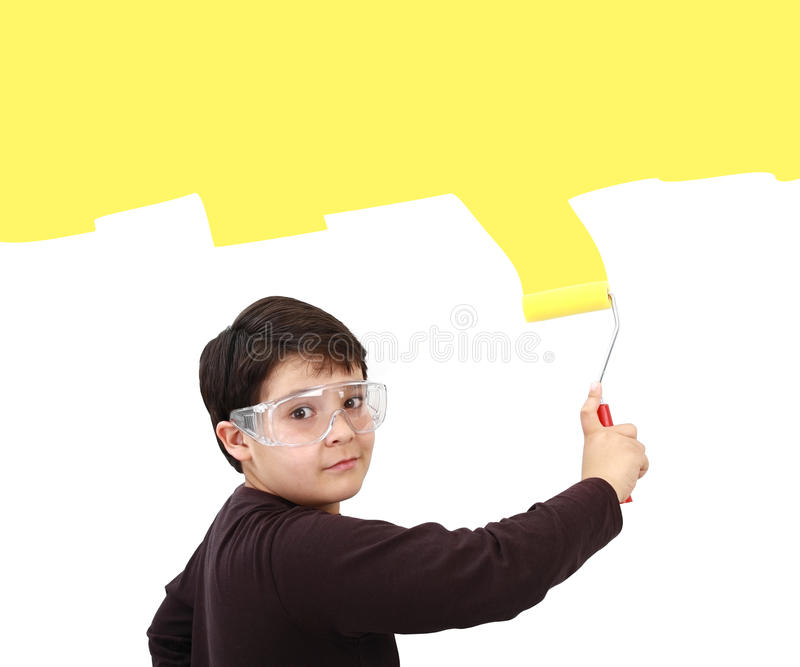 Download Young painter stock photo. Image of home, construction - 25790950