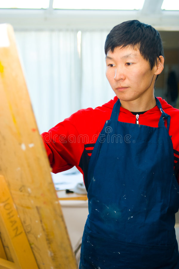 Download Young painter stock photo. Image of creative, painter - 3368010