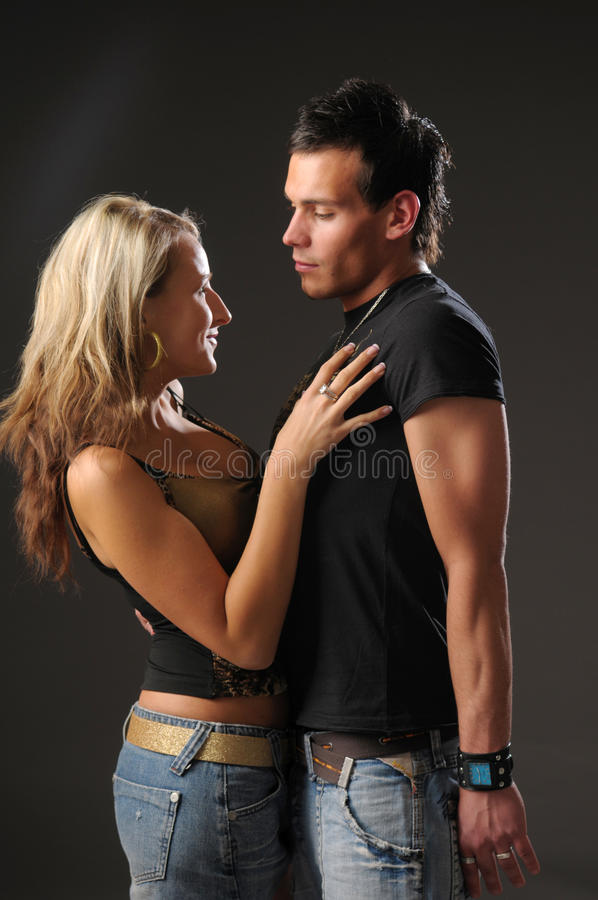 Download Young pair stock photo. Image of twosome, touch, grey - 9972854