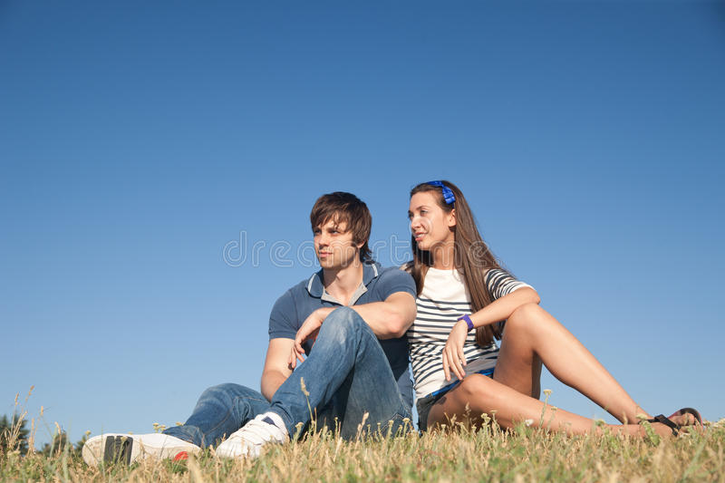 Download Young pair relax in park stock photo. Image of attractive - 19824938