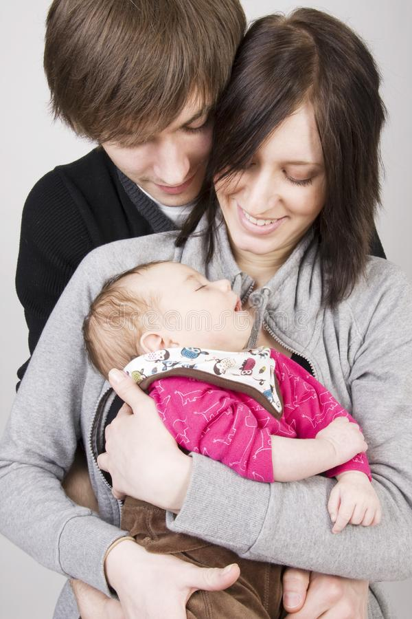 Young parents royalty free stock image