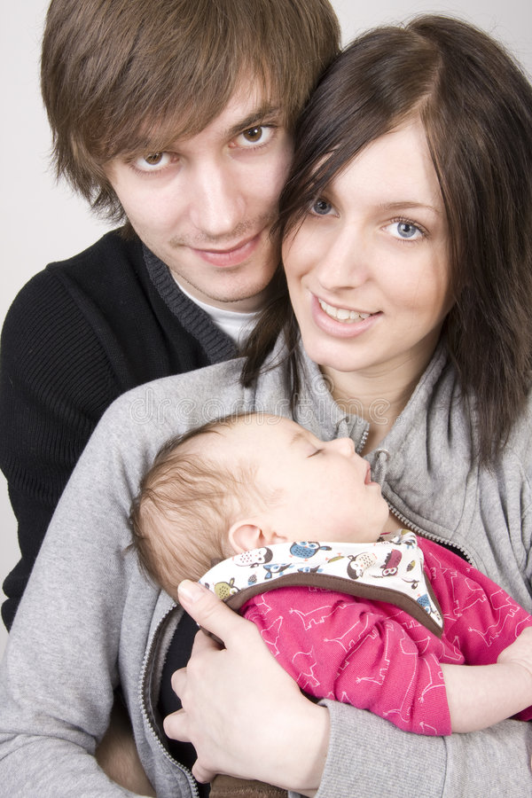 Young parents royalty free stock photography