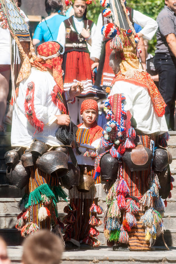Young participants of the Rose Festival in Karlovo. Bulgaria royalty free stock images
